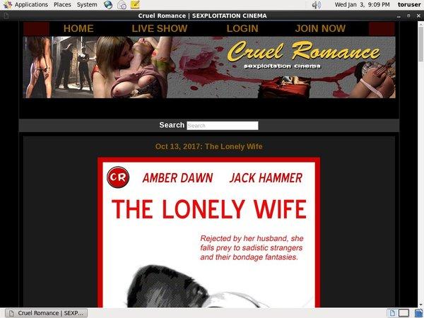 Get A Free Cruel Romance Password