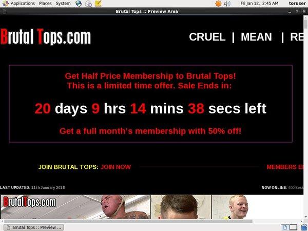 Brutaltops.com Signup Form